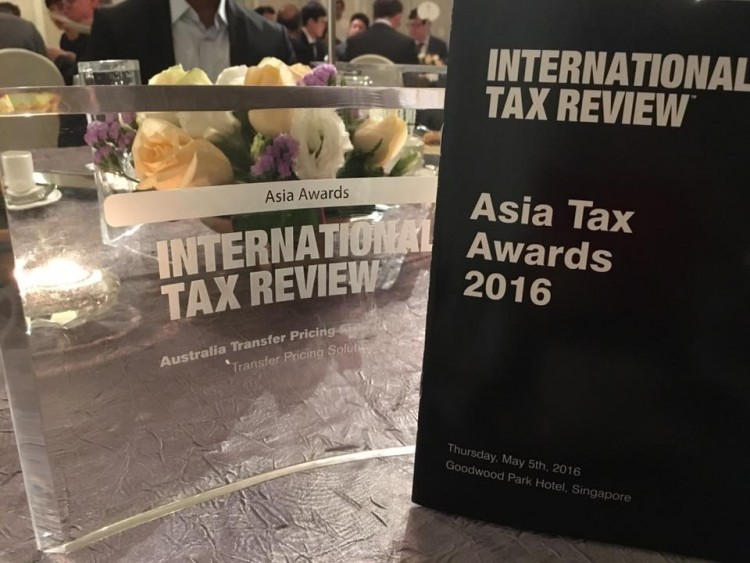 TPS is the winner of Australia Transfer Pricing Team of the Year, Asia Tax Awards 2016